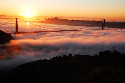 Poster featuring the photograph Foggy Morning San Francisco by James Kirkikis