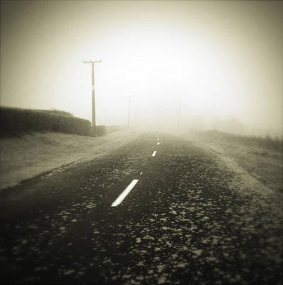 Foggy Road  Poster by Les Cunliffe