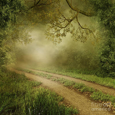 Foggy Road Photo Poster by Boon Mee