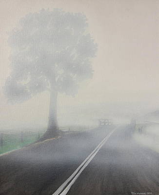 Foggy Road Poster by Tim Mullaney