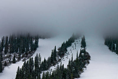 Foggy Ski Resort Poster