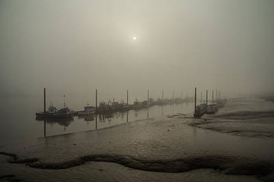 Foggy Sunset On River Medway Poster
