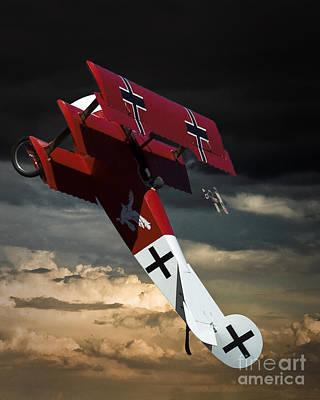 Foker Dr1 Triplane Poster by Arne Hansen