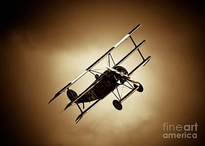 Fokker Dr-1 Poster by Rastislav Margus