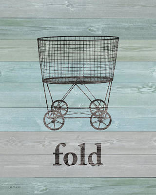 Fold On Wood Poster