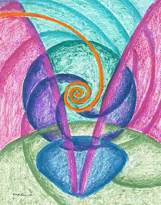Fold Upon Fold Mandala Poster