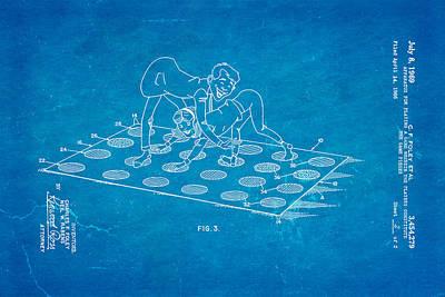 Foley Twister 2 Patent Art 1969 Blueprint Poster by Ian Monk