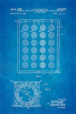 Foley Twister Patent Art 1969 Blueprint Poster