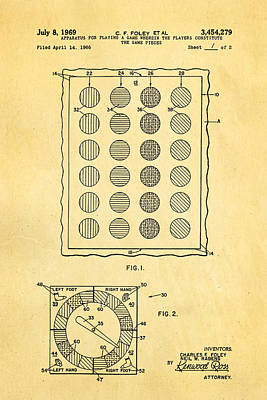 Foley Twister Patent Art 1969 Poster