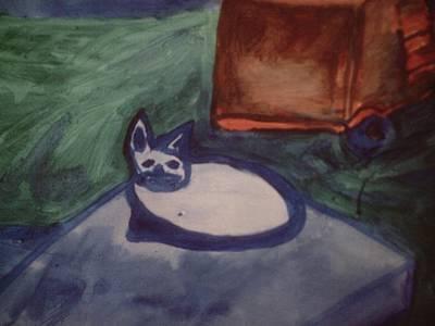 Folk Art Cat Poster