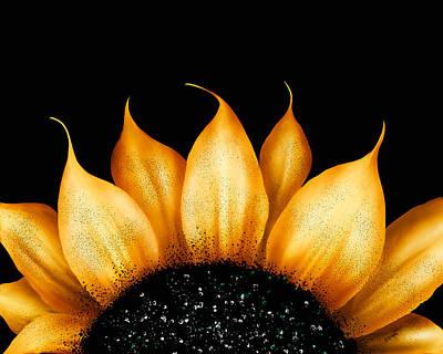 Folk Art Sunflower Poster by Brenda Bryant