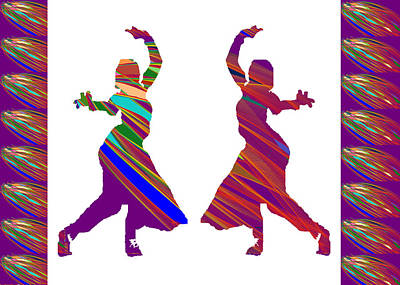 Poster featuring the photograph Folk Dance Sparkle Graphic Decorations by Navin Joshi