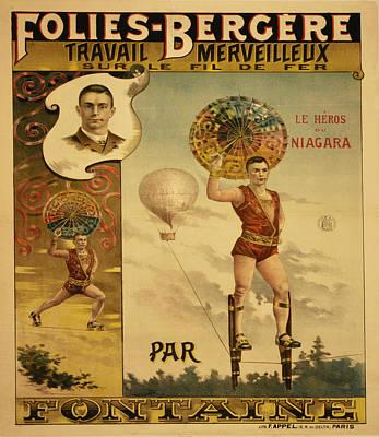 Follies Bergere Travail Mervielleux Poster by Bill Cannon