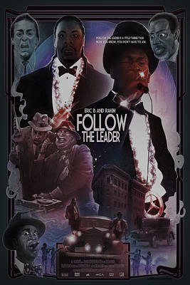 Poster featuring the drawing Follow The Leader 2 by Nelson Dedos Garcia