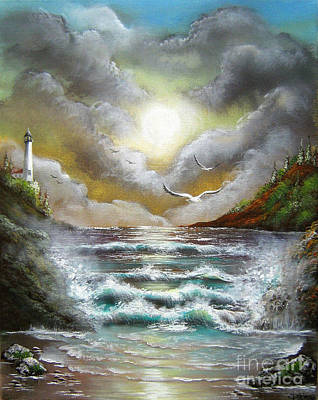 Poster featuring the painting Follow The Wind by Patrice Torrillo