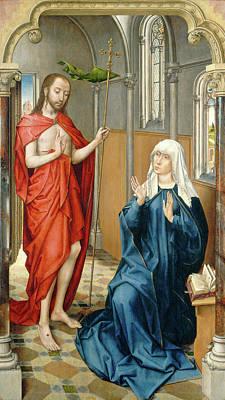 Follower Of Rogier Van Der Weyden, Christ Appearing Poster by Quint Lox