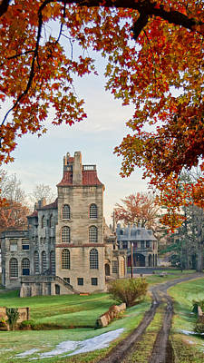 Fonthill Castle In The Fall Poster
