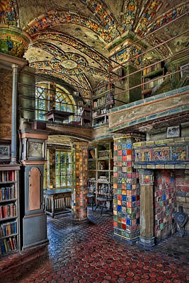Fonthill Castle Library Room Poster by Susan Candelario