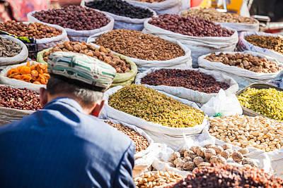 Food At Local Bazaar - Kashgar - China Poster by Matteo Colombo