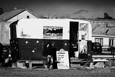 food kiosk for local people in small caravan in Punta Arenas Chile Poster
