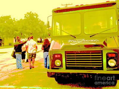 Food Truck In Green Poster