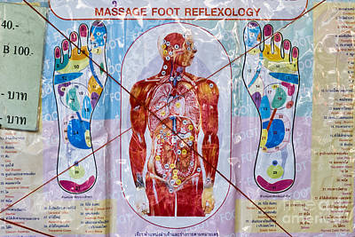 Foot Massage Poster by Luciano Mortula