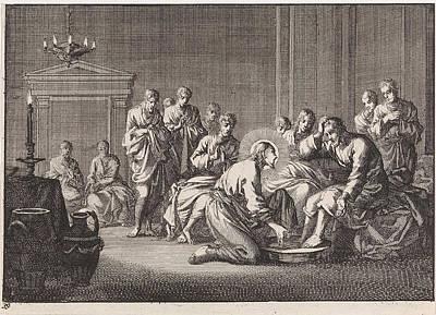 Foot Washing, Jan Luyken, Pieter Mortier Poster