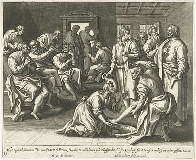 Foot Washing Of Peter, Adriaen Collaert Poster