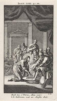 Foot Washing Of Peter, Jan Luyken Poster