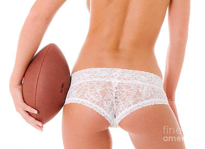Football And Lace Poster by Jt PhotoDesign