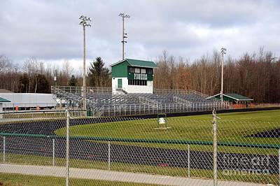 Football Field In Clare Michigan Poster