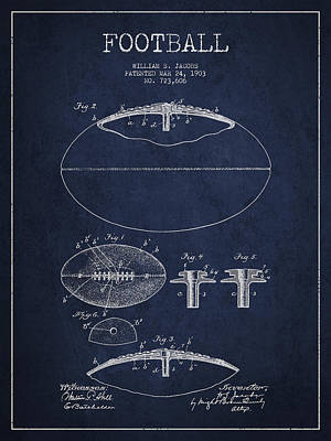 Football Patent Drawing From 1903 Poster