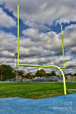 Football - The Goal Post Poster by Paul Ward