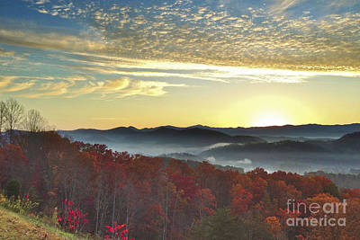 Foothills Parkway Sunrise Poster