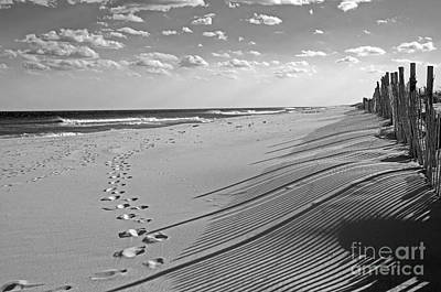 Poster featuring the photograph Footprints In The Sand by Debra Fedchin