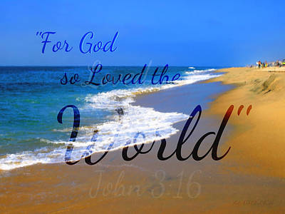 For God So Loved The World Poster by Sharon Soberon