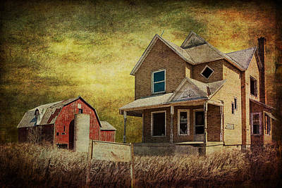 For Sale A Forlorn Michigan Farm Poster by Randall Nyhof
