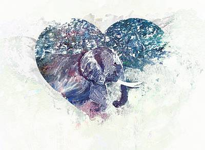 For The Love Of Elephants Poster by Dorothy Berry-Lound