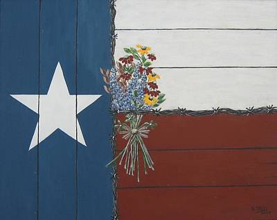Poster featuring the painting For The Love Of Texas by Suzanne Theis