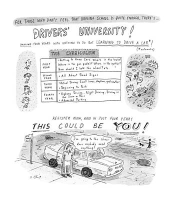 For Those Who Don't Feel That Driving School Poster by Roz Chast