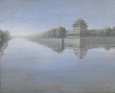 Forbidden City, 2012 Acrylic On Canvas Poster by Lincoln Seligman