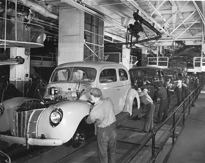 Ford Assembly Line Poster by Underwood Archives