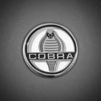 Ford Cobra Embelm -0098bw55 Poster by Jill Reger