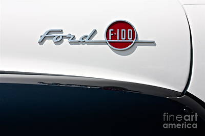 Ford F-100 Poster by Linda Bianic