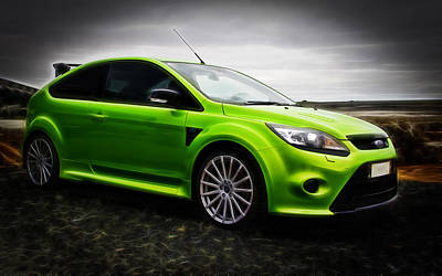 Ford Focus Rs Poster by motography aka Phil Clark