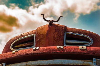 Poster featuring the photograph Ford Hood Ornament by Bartz Johnson