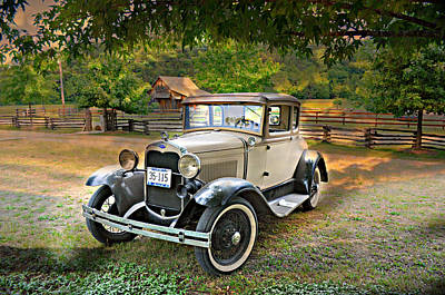 Ford Model A 2 Poster by Marty Koch