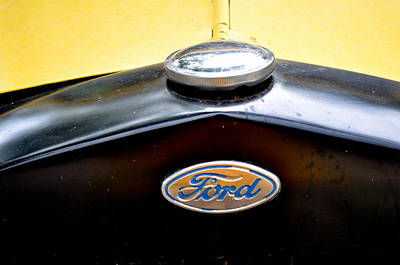 Ford Model A Badge Poster by Marty Koch