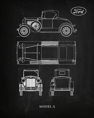 Ford Model A Poster by Mark Rogan