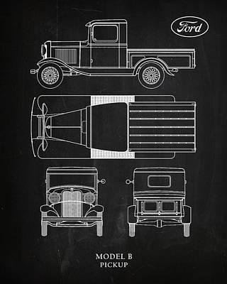 Ford Model B Pickup Poster